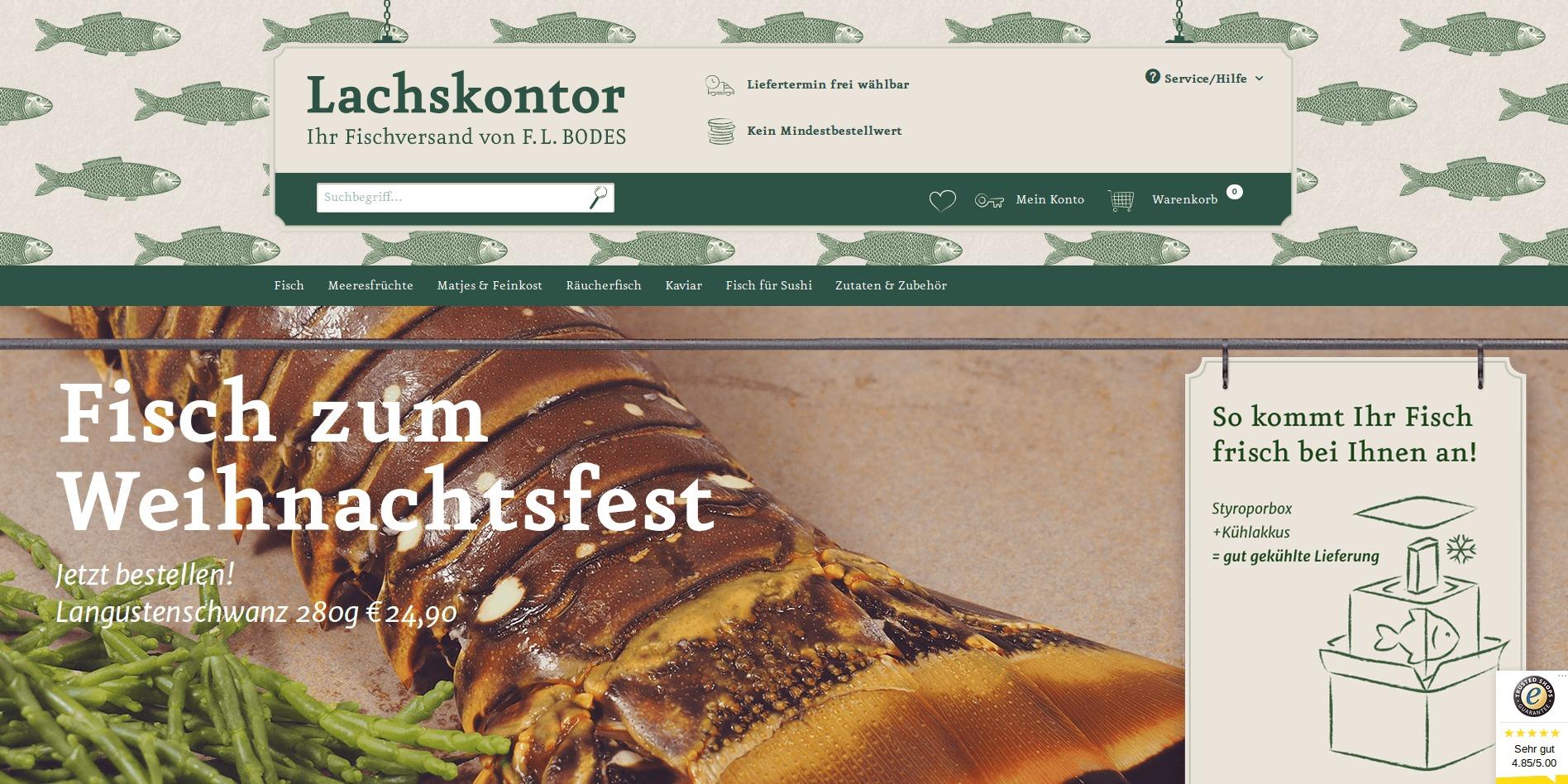 Lachskontor Webseite